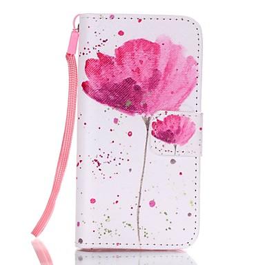 케이스 커버 용 아이폰5케이스 풀 바디 꽃장식 하드 인조 가죽 iPhone SE/5s iPhone 5 용
