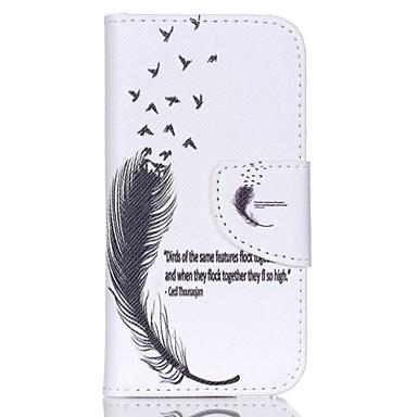 mintás bőr pénztárca esetében ipod touch 5/6 állvánnyal - toll és idézet