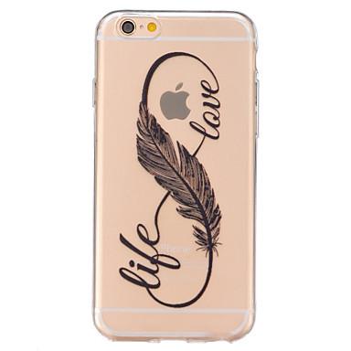 Voor iPhone 6 iPhone 6 Plus Hoesje cover Transparant Achterkantje hoesje Veren Zacht TPU voor iPhone 7 Plus iPhone 7 iPhone 6s Plus