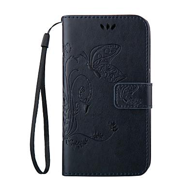 Недорогие Чехлы и кейсы для Galaxy S3 Mini-Кейс для Назначение SSamsung Galaxy S8 Plus / S8 / S7 edge plus Кошелек / Бумажник для карт / со стендом Чехол Бабочка Мягкий Кожа PU