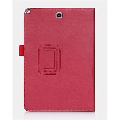 Mert Samsung Galaxy tok Kártyatartó / Állvánnyal / Flip Case Teljes védelem Case Egyszínű Műbőr Samsung Tab A 8.0