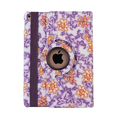 Case Kompatibilitás iPad 4/3/2 Állvánnyal Automatikus készenlét / ébresztés Origami 360° forgás Héjtok Virág PU bőr mert iPad 4/3/2