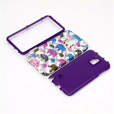 Mert Samsung Galaxy Note Ütésálló / Minta Case Hátlap Case Elefánt PC Samsung Note 4