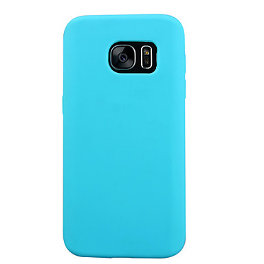 Case For Samsung Galaxy Samsung Galaxy S7 Edge Shockproof Back Cover Solid Color Silicone for S7 S6