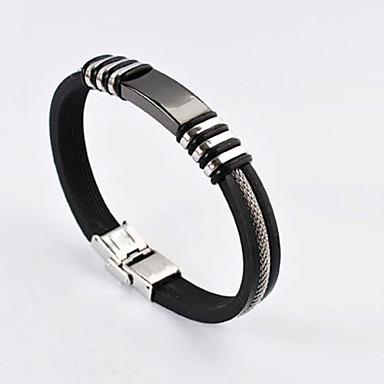 Heren Lederen armbanden Eenvoudig Modieus modieus Casual / Sporty Roestvast staal Sieraden Dagelijks Causaal Sport