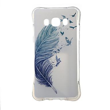 Kompatibilitás Samsung Galaxy tok tokok Ütésálló Minta Hátlap Case Tollak Hőre lágyuló poliuretán mert Samsung J5 (2016)