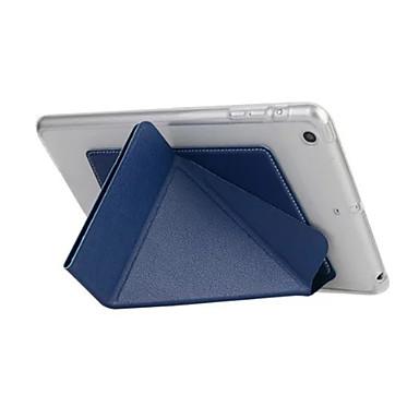 제품 케이스 커버 자동 슬립 / 웨이크 기능 오리가미 풀 바디 케이스 한 색상 하드 인조 가죽 용 Apple iPad iPad Air