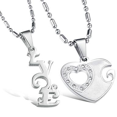 Heren Dames Liefde Initial Jewelry Hangertjes ketting Legering Hangertjes ketting , Bruiloft Feest