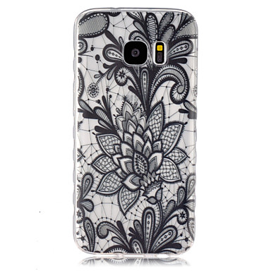 Voor Samsung Galaxy S7 Edge Transparant hoesje Achterkantje hoesje Mandala TPU Samsung S7 edge / S7