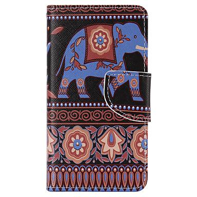 Voor Sony hoesje / Xperia Z5 Portemonnee / Kaarthouder / met standaard / Flip hoesje Volledige behuizing hoesje Olifant Hard PU-leer voor