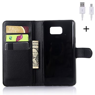 pu bőr flip-pénztárca tok usb kábel Samsung Galaxy Note 3 / veszi 4/5 megjegyzés