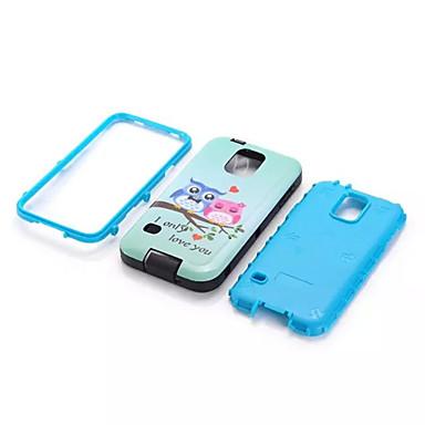 Mert Samsung Galaxy tok Ütésálló / Minta Case Hátlap Case Páncél PC Samsung S5