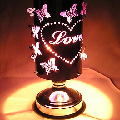 2016 nieuwe smeedijzeren kleurrijke bladeren aromatherapie lamp inductie oven geleid nacht licht voor kinderkamer woninginrichting