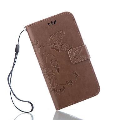Недорогие Чехлы и кейсы для Galaxy S3 Mini-Кейс для Назначение SSamsung Galaxy S7 Active / S7 plus / S7 edge plus Кошелек / Бумажник для карт / со стендом Чехол Бабочка Кожа PU