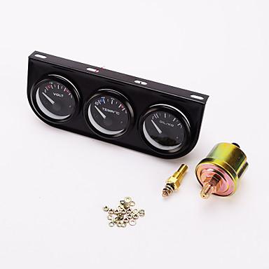 iztoss 52mm hármas gauge 3 az 1-ben (voltmérő + vízhőmérséklet mérő + olajprés nyomtáv) szenzor 52mm auto gauge autó meter