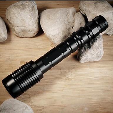 Χαμηλού Κόστους Φακοί-ZK60 Φακοί LED LED Cree® XM-L2 T6 1 Εκτοξευτές 1100 lm 5 τρόπος φωτισμού Τακτικός Zoomable Αδιάβροχη Κατασκήνωση / Πεζοπορία / Εξερεύνηση Σπηλαίων Καθημερινή Χρήση Αστυνομία / Στρατός Μαύρο