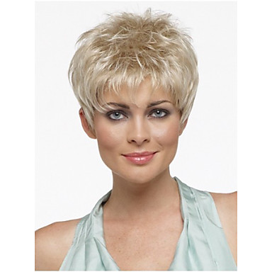 Pixie Cut Hairstyle Synthetic Wigs Short Hair Straight Blonde Wigs