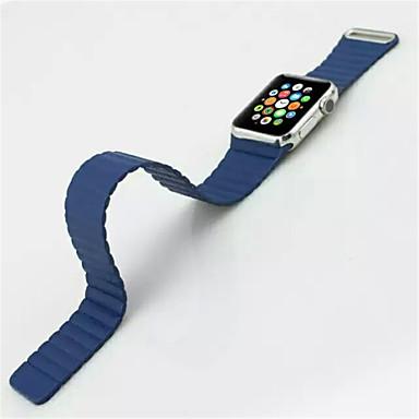 애플 루프 시계 가죽 밴드 38mm 가죽 밴드 교체 팔찌 스트랩