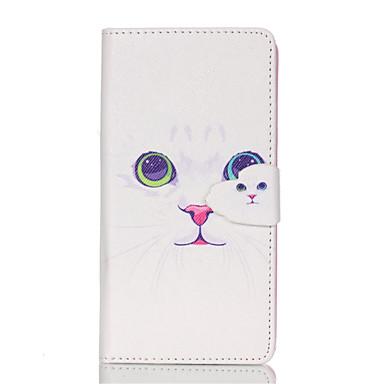 Para Samsung Galaxy Capinhas Porta-Cartão / Com Suporte / Flip / Estampada / Magnética Capinha Corpo Inteiro Capinha Gato Couro PU Samsung