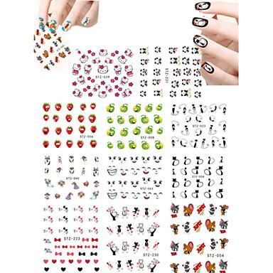 11 아트 스티커 네일 물 이동 스티커 카툰 러블리 메이크업 화장품 아트 디자인 네일