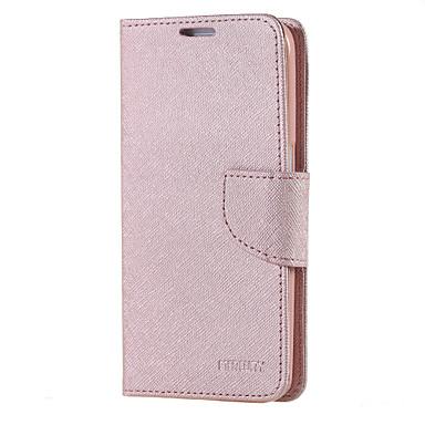 제품 Samsung Galaxy S7 Edge 케이스 커버 카드 홀더 지갑 스탠드 플립 풀 바디 케이스 한 색상 인조 가죽 용 Samsung S7 edge S7