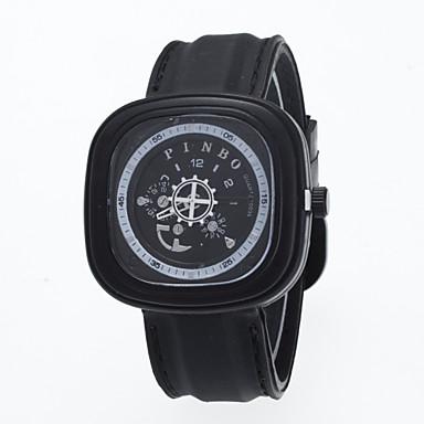 남성 손목 시계 / 석영 스테인레스 스틸 밴드 캐쥬얼 블랙