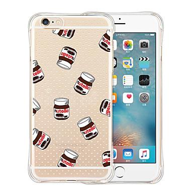 Case Kompatibilitás iPhone X iPhone 8 iPhone 6 iPhone 6 Plus Ütésálló Átlátszó Minta Hátlap Rajzfilm Puha Szilikon mert iPhone X iPhone 8