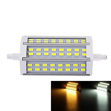 7W R7S LED 투광 조명 매립형 레트로핏 48 LED가 SMD 5730 밝기조절가능 따뜻한 화이트 차가운 화이트 550-600lm 3000-3500  6000-6500K AC 85-265V