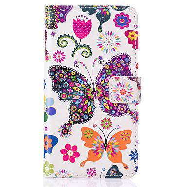 Para Samsung Galaxy Capinhas Case Tampa Carteira Porta-Cartão Com Suporte Flip Corpo Inteiro Capinha Borboleta Couro Ecológico para