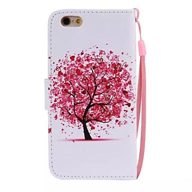 케이스 제품 iPhone 6 iPhone 6 Plus 스탠드 플립 패턴 풀 바디 나무 하드 인조 가죽 용 iPhone 6s Plus iPhone 6 Plus iPhone 6s 아이폰 6 iPhone SE/5s iPhone 5 iPhone 5c