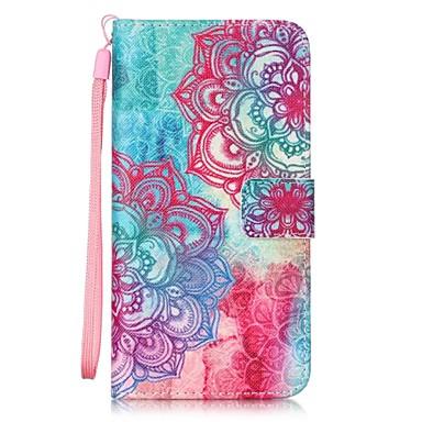 Case Kompatibilitás LG LG G5 LG tok Kártyatartó Pénztárca Állvánnyal Flip Minta Héjtok Mandala Kemény PU bőr mert
