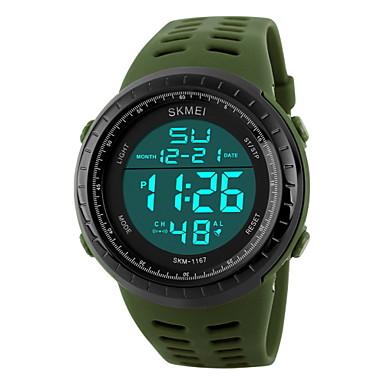 SKMEI Homens Relógio Esportivo / Relógio de Pulso / Relogio digital Alarme / Calendário / Cronógrafo Borracha Banda Preta / Marrom / Verde