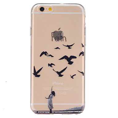 Para iPhone 6 iPhone 6 Plus Case Tampa Transparente Estampada Capa Traseira Capinha Animal Macia PUT para iPhone 6s Plus iPhone 6 Plus