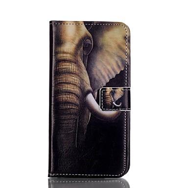 Para Samsung Galaxy S7 Edge Carteira / Porta-Cartão / Com Suporte / Flip Capinha Corpo Inteiro Capinha Elefante Couro PU SamsungS7 edge /