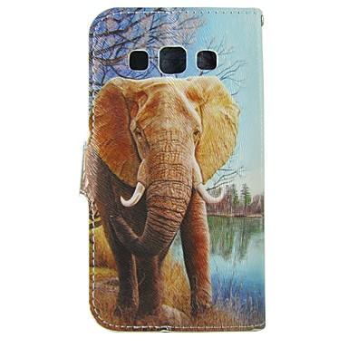 Mert Samsung Galaxy tok Kártyatartó / Pénztárca / Állvánnyal / Flip Case Teljes védelem Case Elefánt Műbőr SamsungTrend Duos / J5 / J1 /