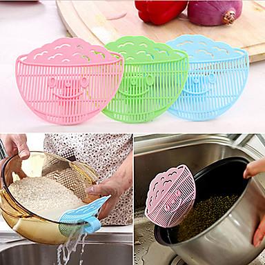 lach gezicht schoonmaken rijst wassen zeef afdruiprek apparaat bean zeef puin filter kan clip