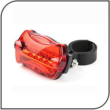 Kerékpár hátsó lámpa biztonsági világítás LED - Kerékpározás Vízálló csúszásmentes LED fény AAA 80 Lumen AkkumulátorBattery Kerékpározás-