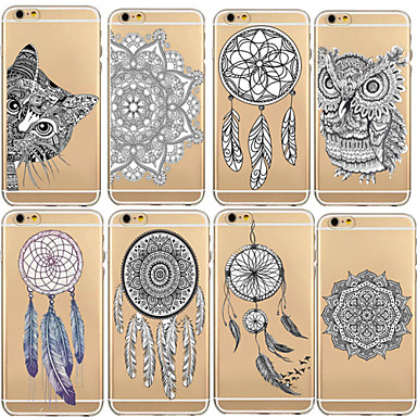 Morbido Plus Cartoni iPhone sottile Fantasia per iPhone retro animati 6s TPU Custodia Ultra Apple Transparente 6 disegno 04894041 iPhone 6 Per Per fqxa4wB