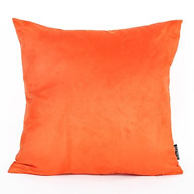 1 db 45 * 45cm narancssárga színű velúr párnahuzat otthoni díszítéssel
