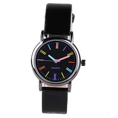 Dames Modieus horloge Kwarts PU Band Zwart