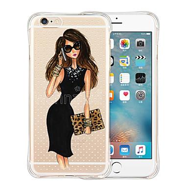 케이스 커버 용 iPhone 6 iPhone 6 Plus 뒷면 커버 투명 패턴 타일 소프트 실리콘 iPhone 6s Plus iPhone 6 Plus iPhone 6s iPhone 6 용