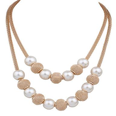 f37a3dcdac5d Mujer Doble Madre hija Collares Declaración Collar Y Flor Importante damas Vintage  Moda Dorado Gargantillas Joyas