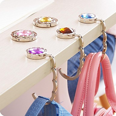 Multicolour Crystal Foldable Bag Purse Hook Handbag Hanger Holder
