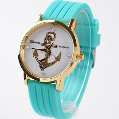 여성용 패션 시계 석영 캐쥬얼 시계 고무 밴드 블랙 화이트 블루 레드 오렌지 브라운 그린 노란색 로즈