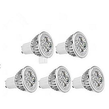 Zdm 5 adet kısılabilir 4 w gu10 led yüksek güç lambası 400-450lm soğuk beyaz 6000-6500k ac 220-240 v