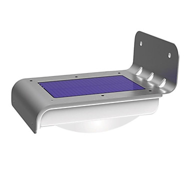 billige Udendørs Lampetter-1 stk Natlys / LED-sollamper Hvid Soldrevet Vandtæt / Sensor