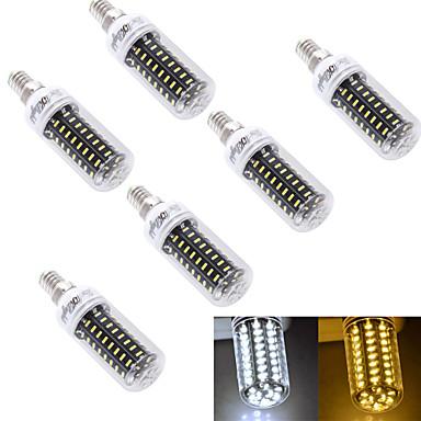5W E14 / E26/E27 LED 콘 조명 T 72 SMD 4014 300 lm 따뜻한 화이트 / 차가운 화이트 장식 AC 220-240 / AC 110-130 V 6개