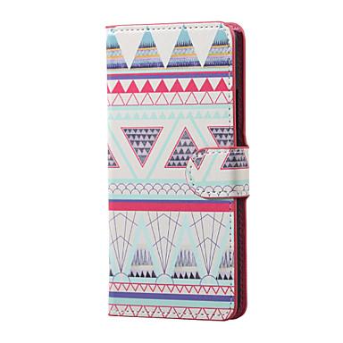 제품 소니 케이스 엑스페리아XA 케이스 커버 지갑 카드 홀더 스탠드 플립 풀 바디 케이스 기하학 패턴 하드 인조 가죽 용 Sony Sony Xperia XA