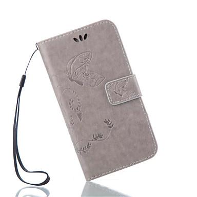 용 삼성 갤럭시 케이스 카드 홀더 / 지갑 / 스탠드 / 플립 / 엠보싱 텍스쳐 케이스 풀 바디 케이스 꽃장식 인조 가죽 Samsung Grand Prime / Core Prime