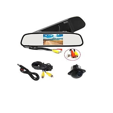 170 °의 HD 주차 카메라 + 자동차 백미러 LCD 디스플레이 모니터
